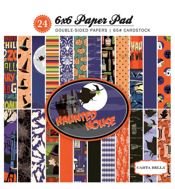 Carta Bella HAUNTED HOUSE Halloween 6x6 Scrapbook Paper Pad