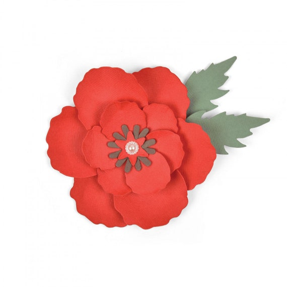 New! (will ship January 24th) Sizzix Bigz Die - Poppy by Sophie Guilar 663353