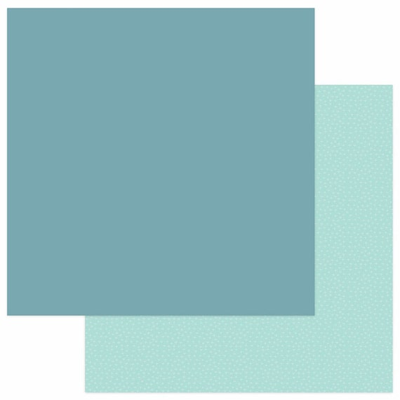 New! 2 Sheets of Photo Play SNUGGLE UP GIRL Solids+ 12x12 Baby Theme Scrapbook Cardstock Paper - Teal