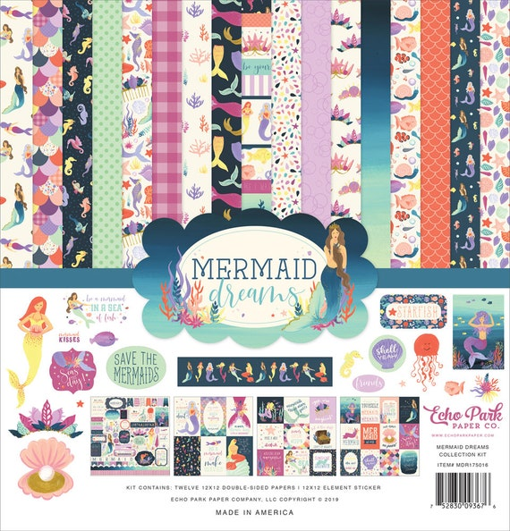 Echo Park HELLO SPRING 12x12 Collection Kit Scrapbook Planner Garden