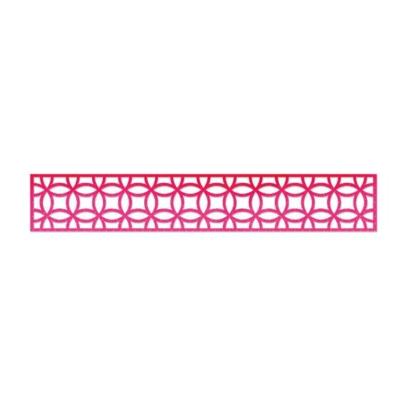Sizzix Sizzlits Decorative Strip Die - Interlocking Circles 658001