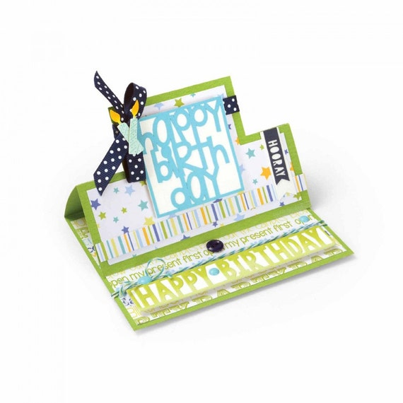 Sizzix Framelits Die Set 28PK - Card, Square Stand-Ups by Stephanie Barnard 661567