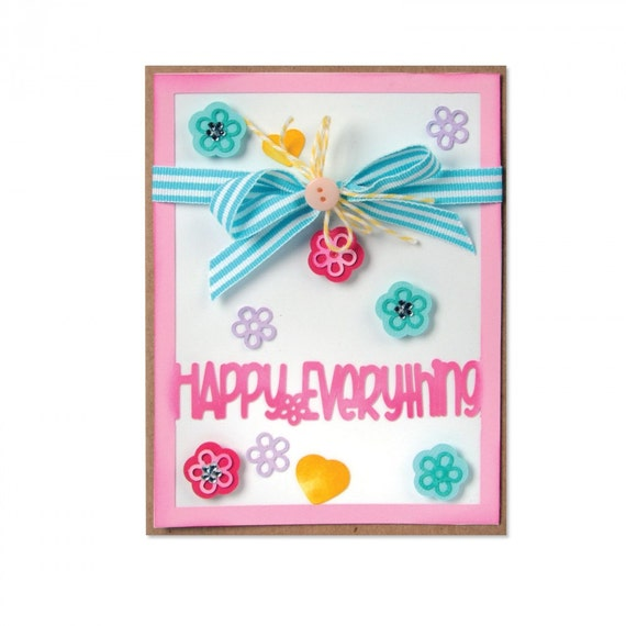 Sizzix Framelits Die Set 13PK - Card Front w/Block Words Drop-ins by Stephanie Barnard 661562