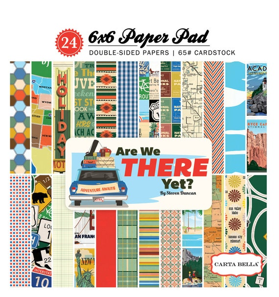 Carta Bella ARE We THERE YET 6x6 Scrapbook Paper Pad