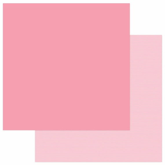 New! 2 Sheets of Photo Play SNUGGLE UP GIRL Solids+ 12x12 Baby Theme Scrapbook Cardstock Paper - Pink