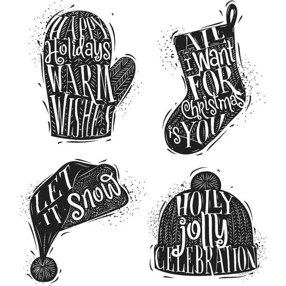 Tim Holtz CARVED CHRISTMAS #1 Holiday Christmas Cling-Mount Rubber Stamp Set by Stampers Anonymous CMS313