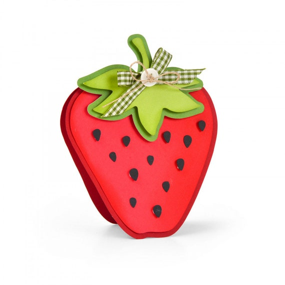 New! (will ship January 24th) Sizzix Framelits Die Set 5PK - Strawberry Fold-its by Stephanie Barnard 664115