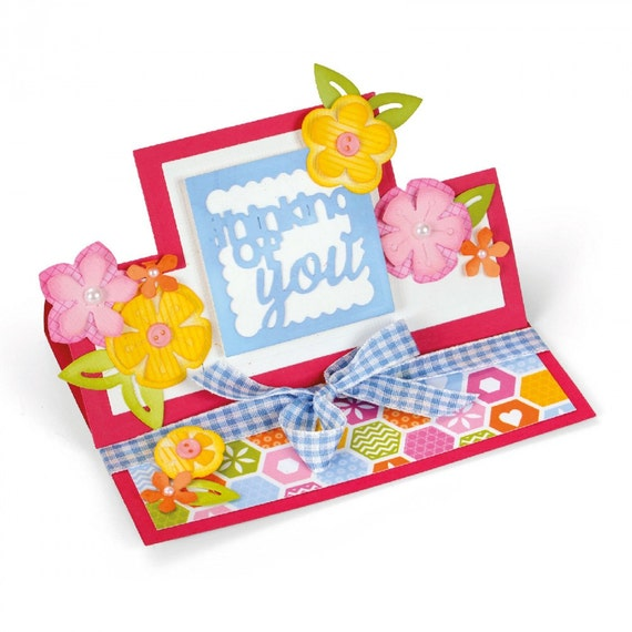 Sizzix Framelits Die Set 21PK - Card, Thinking of You Mini Stand-Ups 660712
