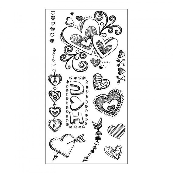 Sizzix Clear Stamps - Doodle Love - Valentine's Day Theme 661991