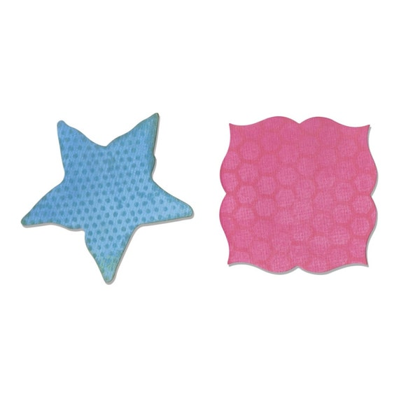 Sizzix Movers and Shapers Magnetic Die Set 2PK - Label & Starfish by Sharyn Sowell 660357