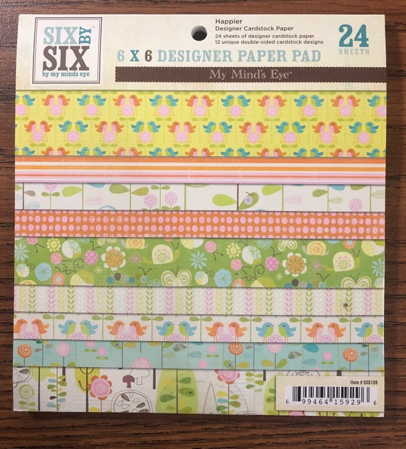 My Mind's Eye HAPPIER 6x6 Paper Pad - Perfect for Cardmaking and Mini Albums!