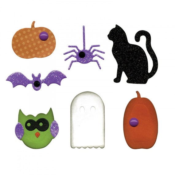 New! Sizzix Thinlits Die Set 9PK - Fall (Halloween) Embellishments by Lori Whitlock 663190