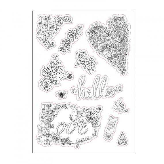 Sizzix Coloring Stickers - In Bloom by Jen Long