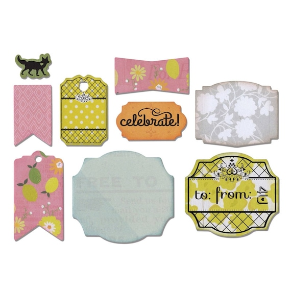 Sizzix Framelits Die Set 9PK w/Stamps - Fall Sentiments by Rachael Bright