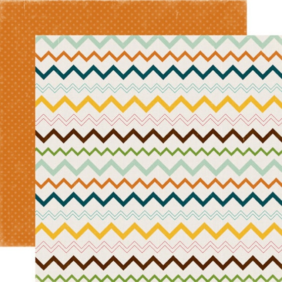 2 Sheets of Echo Park Paper HAPPY CAMPER 12x12 Camping Theme Scrapbook Paper - Teepee