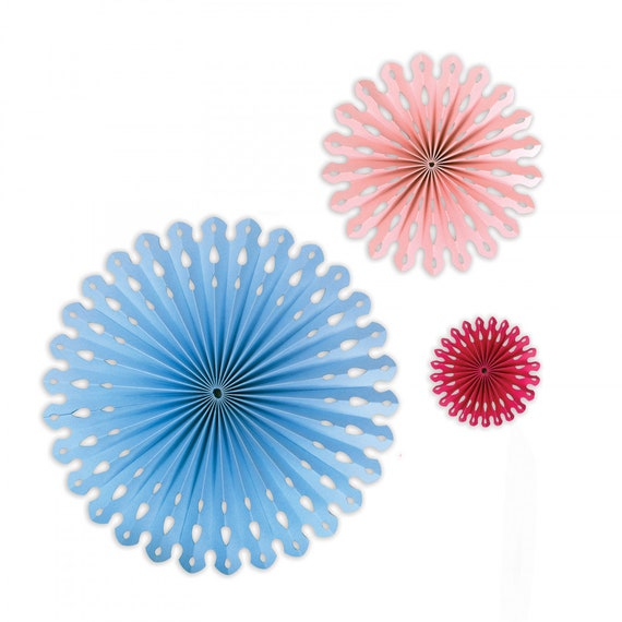 New! Sizzix Thinlits Die Set 2PK - Rosette Fan by David Tutera 663137