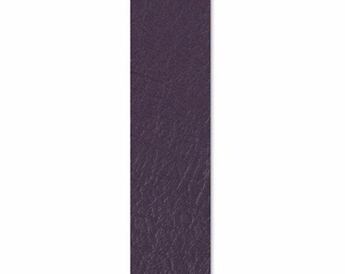 "New! Sizzix Leather Piece - 1.875"" x 8"" Dark Purple (Cowhide)"