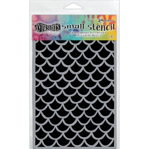 New! Ranger Dylusions FISHTAILS Small 5x8 Stencil by Dyan Reaveley