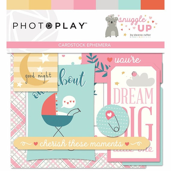 New! 1 Pack of Photo Play Paper SNUGGLE UP GIRL Ephemera Die Cuts