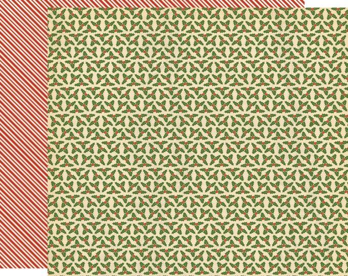 2 Sheets of Carta Bella Paper CHRISTMAS WONDERLAND 12x12 Scrapbook Paper - Deck the Halls (CBCW46005)