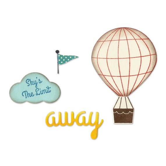 Sizzix Framelits Die Set 5PK w/Clear Stamps - Hot Air Balloon by Jillibean Soup 660411