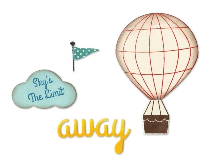 Sizzix Framelits Die Set 5PK w/Clear Stamps - Hot Air Balloon by Jillibean Soup 660411
