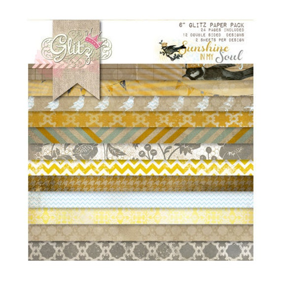 Glitz Design SUNSHINE in MY SOUL 6x6 Paper Pad - Perfect for Cardmaking and Mini Albums!