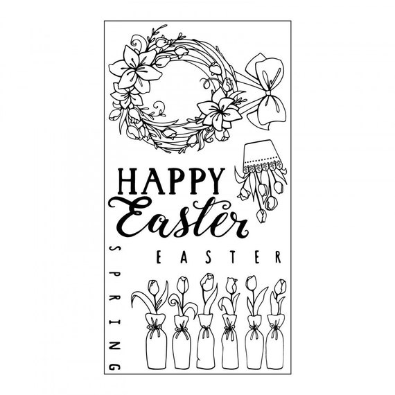 Sizzix Clear Stamps - Happy Easter by Katelyn Lizardi 661998