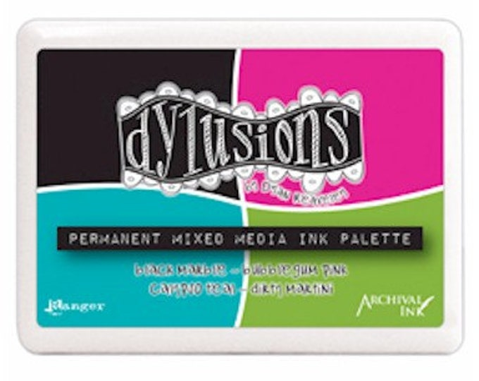 Dylusions Permanent Mixed Media Ink Palette Pad