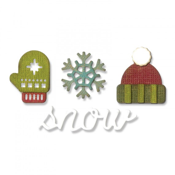 New! Sizzix Tim Holtz Side-Order Set for the Sidekick - Winter 663098