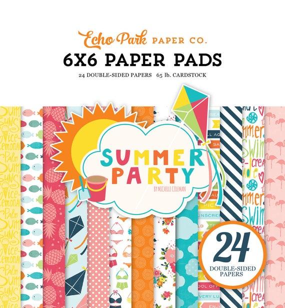 Echo Park Paper SUMMER PARTY 6x6 Scrapbook Paper Pad