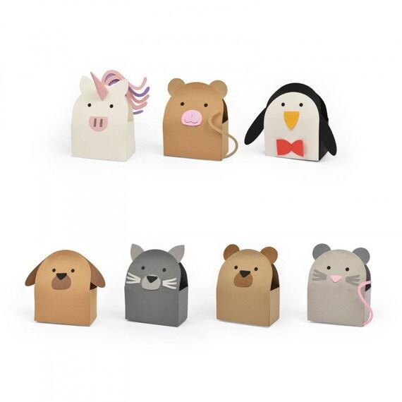 New! (will ship January 24th) Sizzix Bigz L Die - Box, Animal #2 by Georgie Evans 663326