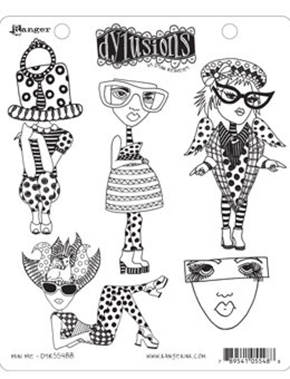 Dylusions MINI ME Cling Mount Rubber Stamps Set by Dyan Reaveley DYR55488