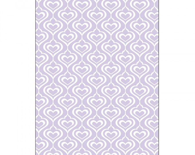 Sizzix Textured Impressions Embossing Folder - Hearts by David Tutera 661886