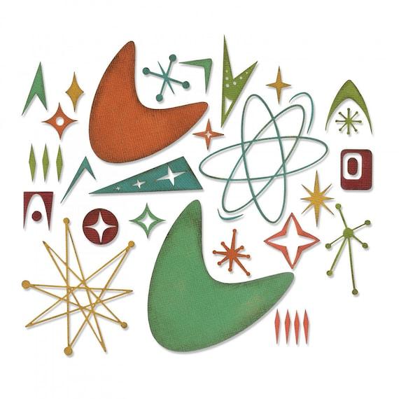 New! (will ship January 24th) Sizzix Tim Holtz Thinlits Die Set 25PK - Atomic Elements 664152