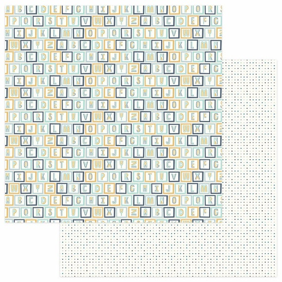 New! 2 Sheets of Photo Play SNUGGLE UP BOY 12x12 Baby Theme Scrapbook Cardstock Paper - All Stacked Up