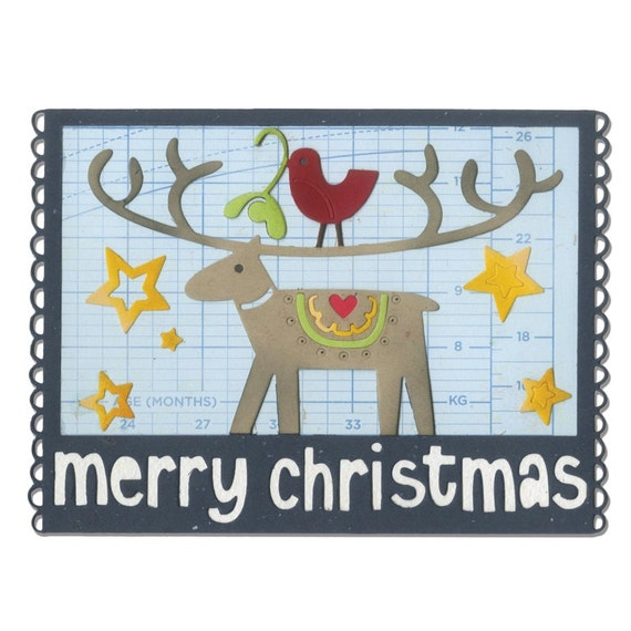 Sizzix Thinlits Die - Merry Christmas by Debi Potter 660732