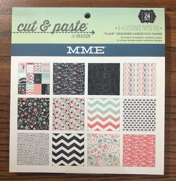"My Mind's Eye CUT & PASTE ""Flair"" 6x6 Paper Pad - Perfect for Cardmaking and Mini Albums!"