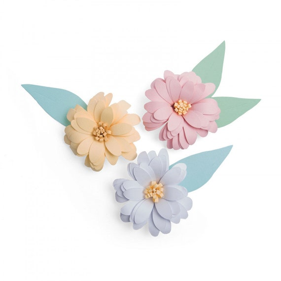 New! (will ship January 24th) Sizzix Bigz Plus Die (for the Big Shot Plus Machine) - 3-D Daisy by Olivia Rose 663318