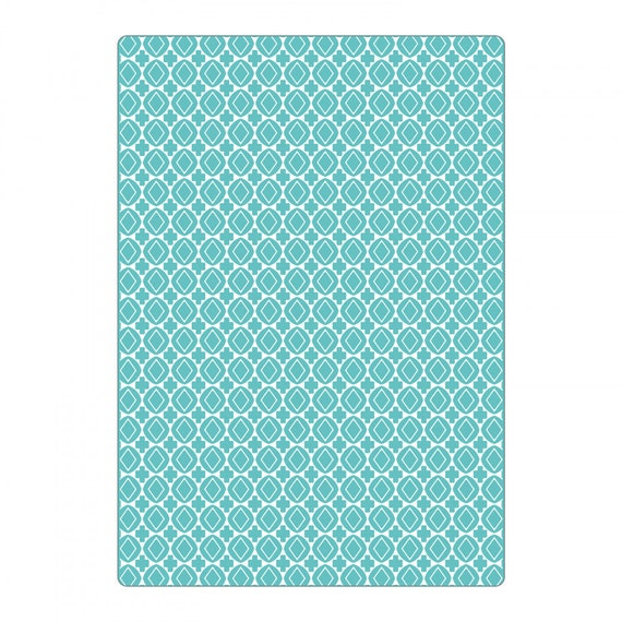 New! Sizzix Textured Impressions Plus Embossing Folder - Cruzes y Geométricos (Crosses & Geometrics) 663227