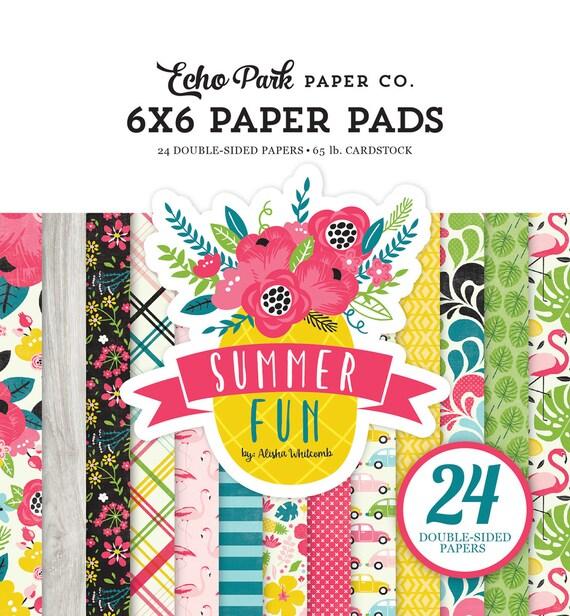 Echo Park Paper SUMMER FUN 6x6 Scrapbook Paper Pad
