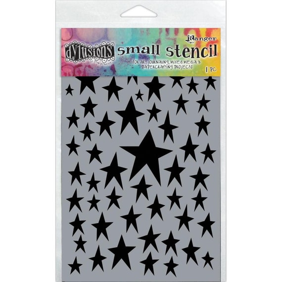 New! Ranger Dylusions STAR STRUCK Small 5x8 Stencil by Dyan Reaveley