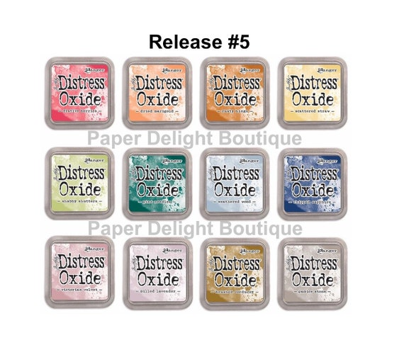 Release #5 - Tim Holtz Distress Oxide Ink Pads - All 12 NEW October 2018 Colors