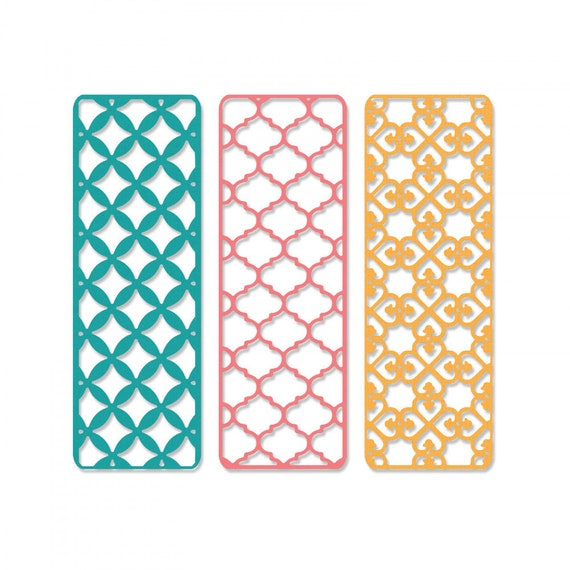 New! (will ship January 24th) Sizzix Thinlits Die Set 3PK - Creative Backgrounds by Carrotcake 663482