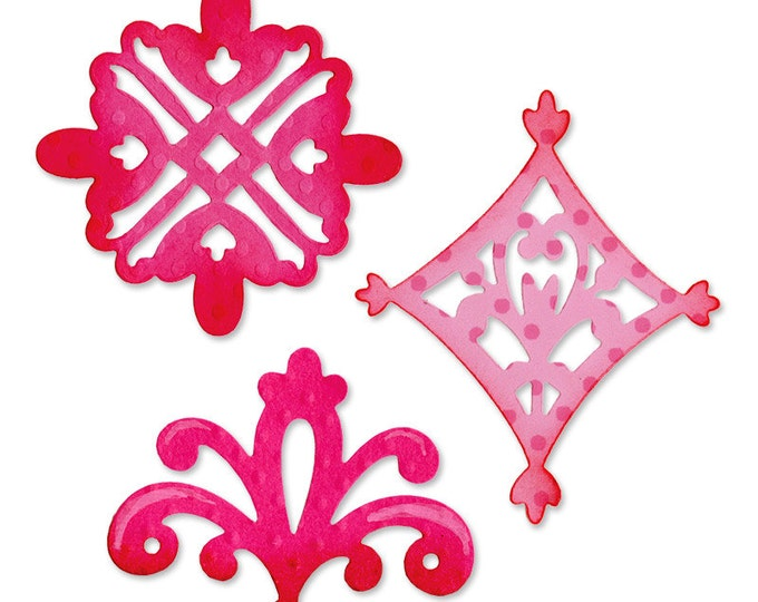 Sizzix Sizzlits Die Set 3PK - Decorative Accent Set 657999