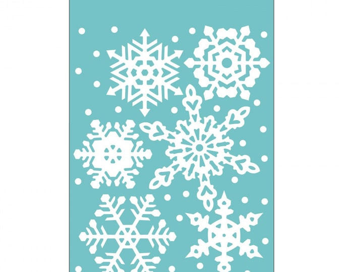 Sizzix Textured Impressions Embossing Folder - Falling Snowflakes by Sharyn Sowell 661544