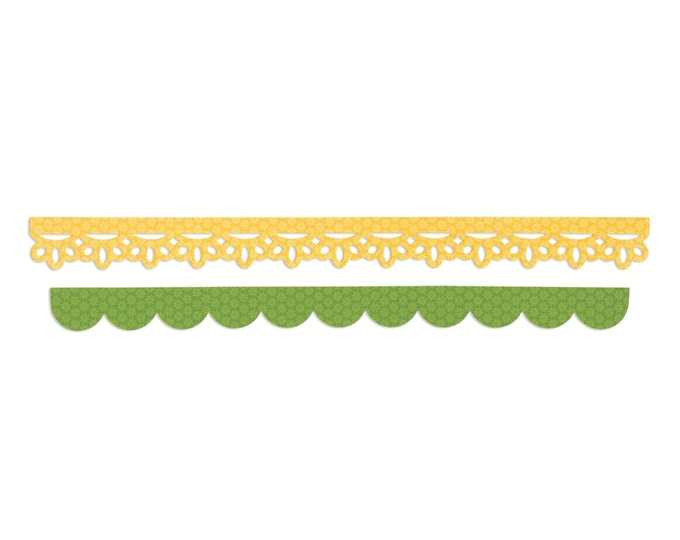 Sizzix Sizzlits Decorative Strip Die - Eyelet Lace & Scallops by Doodlebug Design