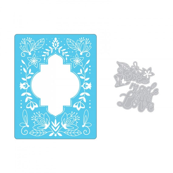 Sizzix Impresslits Cut & Emboss Embossing Folder - Made With Love 662831