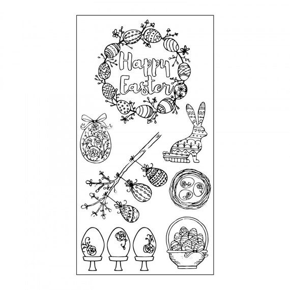 Sizzix Clear Stamps - Eggstatic Easter by Jen Long 661997