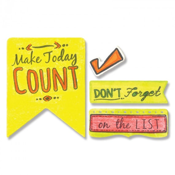 Sizzix Framelits Die Set 10PK w/Stamps - Make Today Count by Katelyn Lizardi